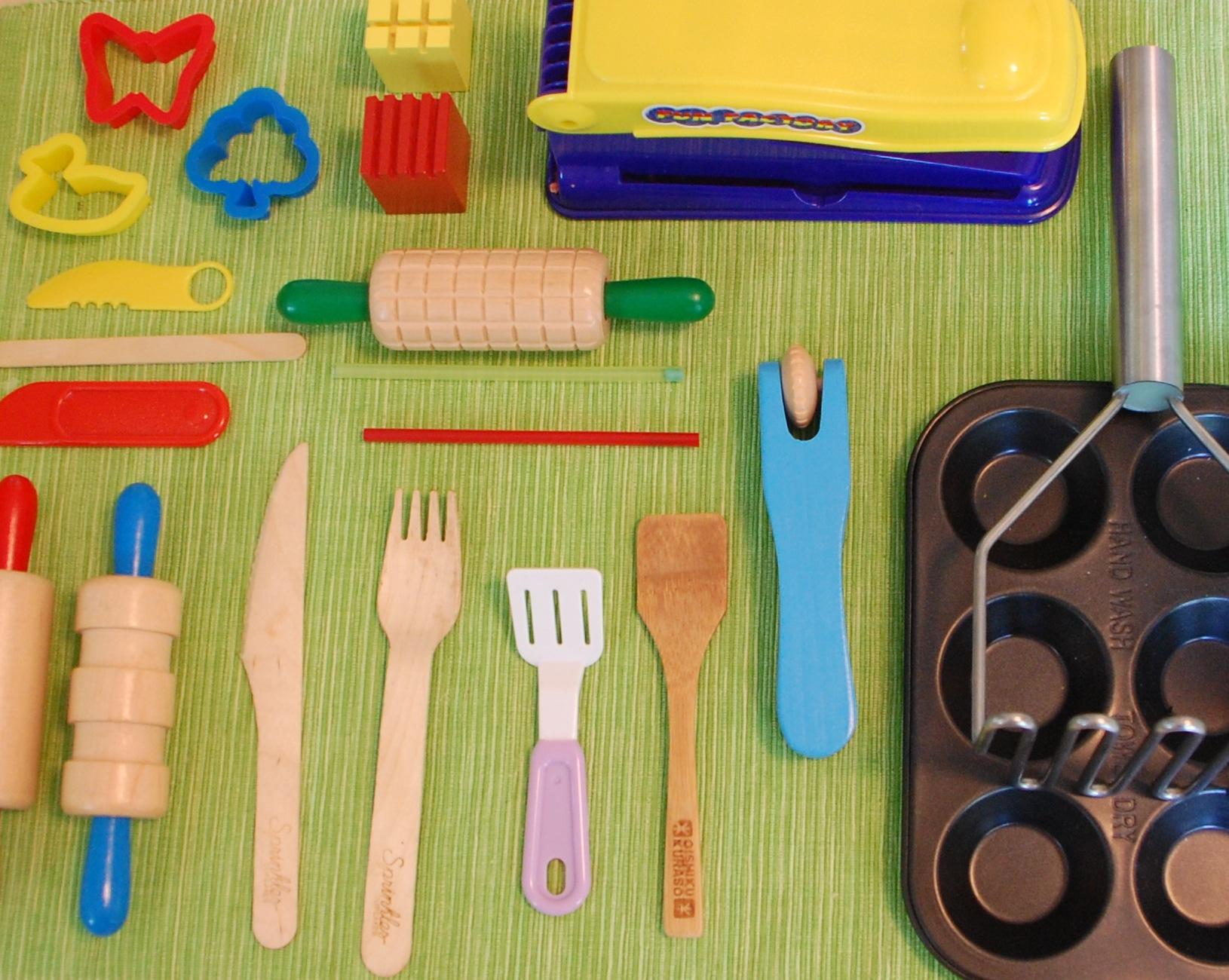 Set of 12 Tools for Plasticine or Dough – Playdough Tools